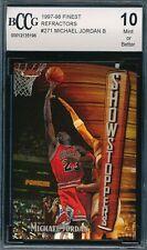 MICHAEL JORDAN 1997-98 TOPPS FINEST BRONZE REFRACTOR BCCG 10 CARD #271 BGS!