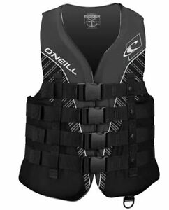 O'Neill XXXL 3XL Mens SuperLite USCG Life Vest Jacket Wakeboard Black