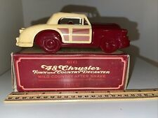 Vintage Avon 1948 Chrysler Town & Country Wild After Shave Bottle w/ Box Empty