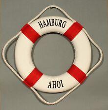 "Deko Rettungsring ""Hamburg Ahoi"" rot / weiß 15 cm Ø maritime Dekoration"