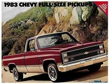1983 Chevrolet full-size pickups factory brochure-16 pages-Chevy 4x4 6.2 K10 K20