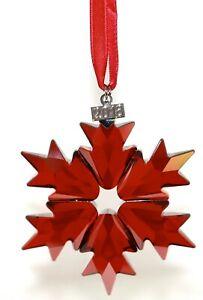 Swarovski Star Christmas Festtag Ornament 2018 Red Original New