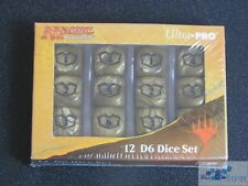 RIVALS OF IXALAN DICE SET OF 12 16mm DICE GOLD BLACK PLANESWALKER COUNTERS