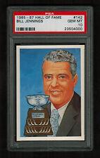 PSA 10 BILL JENNINGS 1985 Hall of Fame Hockey Card #142