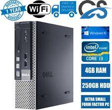 FAST DELL OPTIPLEX 790 USFF PC COMPUTER INTEL CORE i3 4GB DDR3 250GB HDD WIN 10