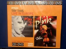 PINK.    CD  /  DVD. BOXSET.       PINK. TRY. THIS. /  PINK.  LIVE. IN. EUROPE.