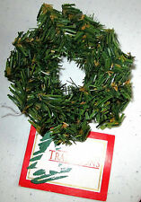 "TRADITIONS 3-3/4"" GREEN CRAFT CHRISTMAS WREATH BY WANG"