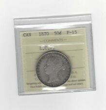 **1870 LCW**, ICCS Graded Canadian Silver 50 Cent, **F-15**