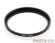 55 mm - 58 mm Filter Adapter Step Up Ring Filteradapter  Z-0361