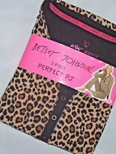 Betsey Johnson waffle fleece Pajama set animal print pajamas size SMALL