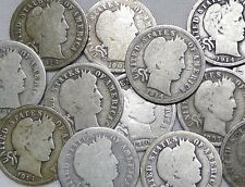 ESTATE LOT OF 6 COINS ALL OVER 100 YEARS OLD! CIVIL WAR,BARBER,INDIAN AND MORE!