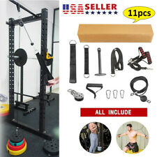 US Fitness Pulley Rope Wrist Roller Forearm Gym Equipment Machine Attachment DIY