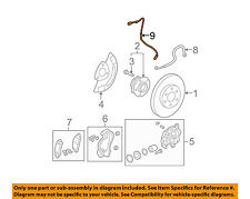 GM OEM ABS Anti-lock Brakes-Front Speed Sensor 22739727