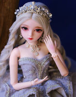 Komplettes Set 60cm 1/3 BJD Puppe Doll mit Gesicht Make-up Perücken Kleidung New