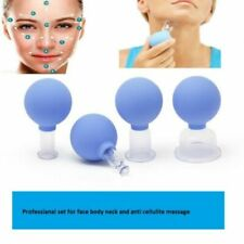Set of 4 cup Glass cupping vacuum massage anti cellulite face neck body suction
