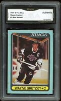 1990 O-Pee-Chee OPC #D Blue Box Bottom Wayne Gretzky Graded GMA Authentic ~ PSA?