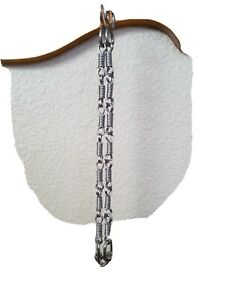 Rein Chains 12 inches long Stainless Steel. With matching earrings.