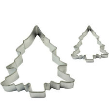 Pme Cake Baking Metal Christmas Tree Cookie Shape Cutter Pack Of 2 Small & Large