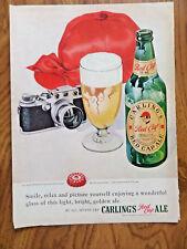 1949 Carling's Red Cap Ale Ad Camera