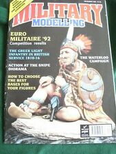MILITARY MODELLING MAGAZINE DEC 1992 SNIPE DIORAMA WATERLOO CAMPAIGN BEST BASES