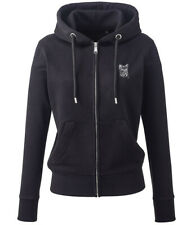 More details for yorkshire terrier yorkie gifts embroidered ladies organic full zip hoodie