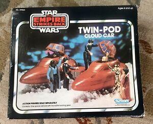 Vintage 1980 Star Wars ESB Twin Pod Cloud Car W/Box Instructions