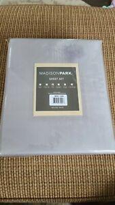 NEW Madison Park -essentials- Sheet Set Full MPE20-2384, Gray color NIP