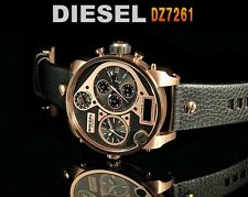 DIESEL MEN'S PREMIUM COLLECTION 4 TIME ZONE LEATHER WATCH DZ7261