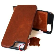 genuine real leather Case for apple iphone 7 book slim holder hard cover Retro R