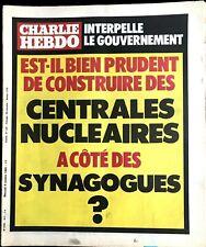b)Charlie Hebdo 517 du 8/10/1980; Construction des central à côté des Synagogues