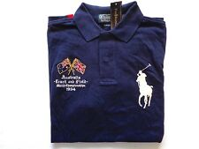 New Ralph Lauren Polo 100% Cotton Custom Fit Navy Australia Big Pony Shirt sz M