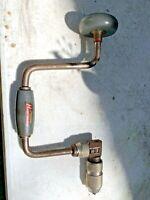 Vintage Old Stanley HandyMan USA H1253 Hand Crank Ratcheting Brace Drill Works