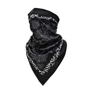 Black Motorcycle Face Mask Neck Cover Balaclava Cycling Bike Ski Outdoor Bandana