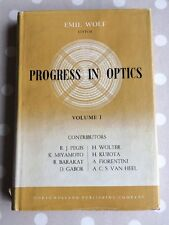 Progress in Optics Edited by Emil Wolf first edition Vol 1 1961