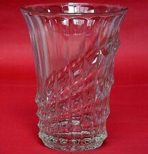 Val St. Lambert Vase Glas Glasvase Kristall Kristallvase Blumenvase Höhe 22,3cm