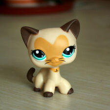 LPS Toys Littlest Pet Shop Rare Heart Face Yellow Short Hair Cat Birthday Gifts