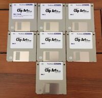 Vtg Word Perfect Clip Art Graphic Images Software Macintosh Mac Floppy Disks
