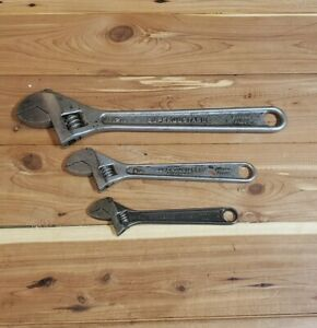 3 Piece Adjustable Wrench Set - 6, 10 & 12 inch length 2 Williams 1 Crescent
