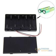 8x New 2 AA 2A Battery 12V Clip Holder Box Case ON/OFF Switch with Wire Cord