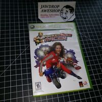 POCKET BIKE RACER XBOX 360 (GAME, CASE, MANUAL) CASE PART BROKEN. BK BURGER KING
