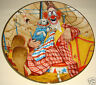 """Lou Jacobs 9"""" Plate By R Weaver The Greatest Clowns Of The Circus W/ Certificate"""