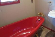 Kohler Birthday Clawfoot Red Tub