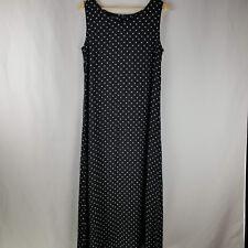 Style & Co Womens Dress Size 10 Black White Polka Dots Sleeveless