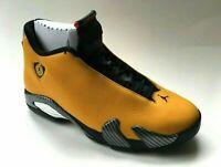 SHIP NOW Nike Air Jordan 14 XIV Retro Reverse Ferrari 4-13 Gold Black BQ3685-706