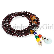 5MM Bracelet Tibetan Buddhist Link Wrist Beads Prayer Mala Elastic for Men Women