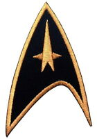 BLACK Star Trek Command insignia Cosplay VELCRO® BRAND Hook Fastener Patch