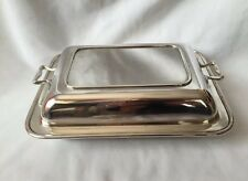 Victorian  Silver Plated  Warming Dish With Handles Made In England