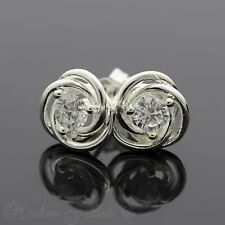 SIMULATED DIAMOND DAISY STERLING SILVER PLATED GIRLS WOMENS STUD EARRINGS