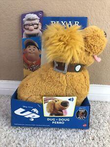 "Disney Pixar Dug Doug Talking Plush Up Movie Dug Days 10"" Stuffed Animal 2021"