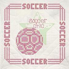 Fairway Quilt Blocks Soccer Stamped Cross Stitch - New